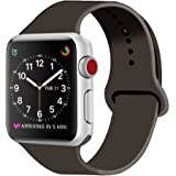 ZRO Cinturino for Apple Watch, Morbido Silicone Braccialetto Sportiva di Ricambio per 42mm iWatch Serie 3/ Serie 2/ Serie 1, Taglia M/L, Cacao