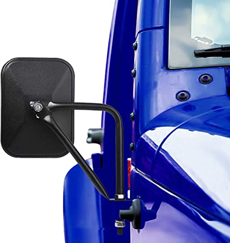 Seven Sparta Doors Off Mirrors for Jeep Wrangler 2007-2018 JK /& JL Shake-Proof Doorless Side Mirror 2 Pack of Quick Release Mirrors Kit Black