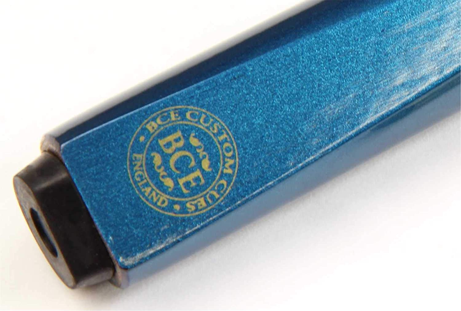 9.5mm Tip BCE 57 Inch METALLIC BLUE EXTREME 2 Piece Ash Pool Snooker Cue