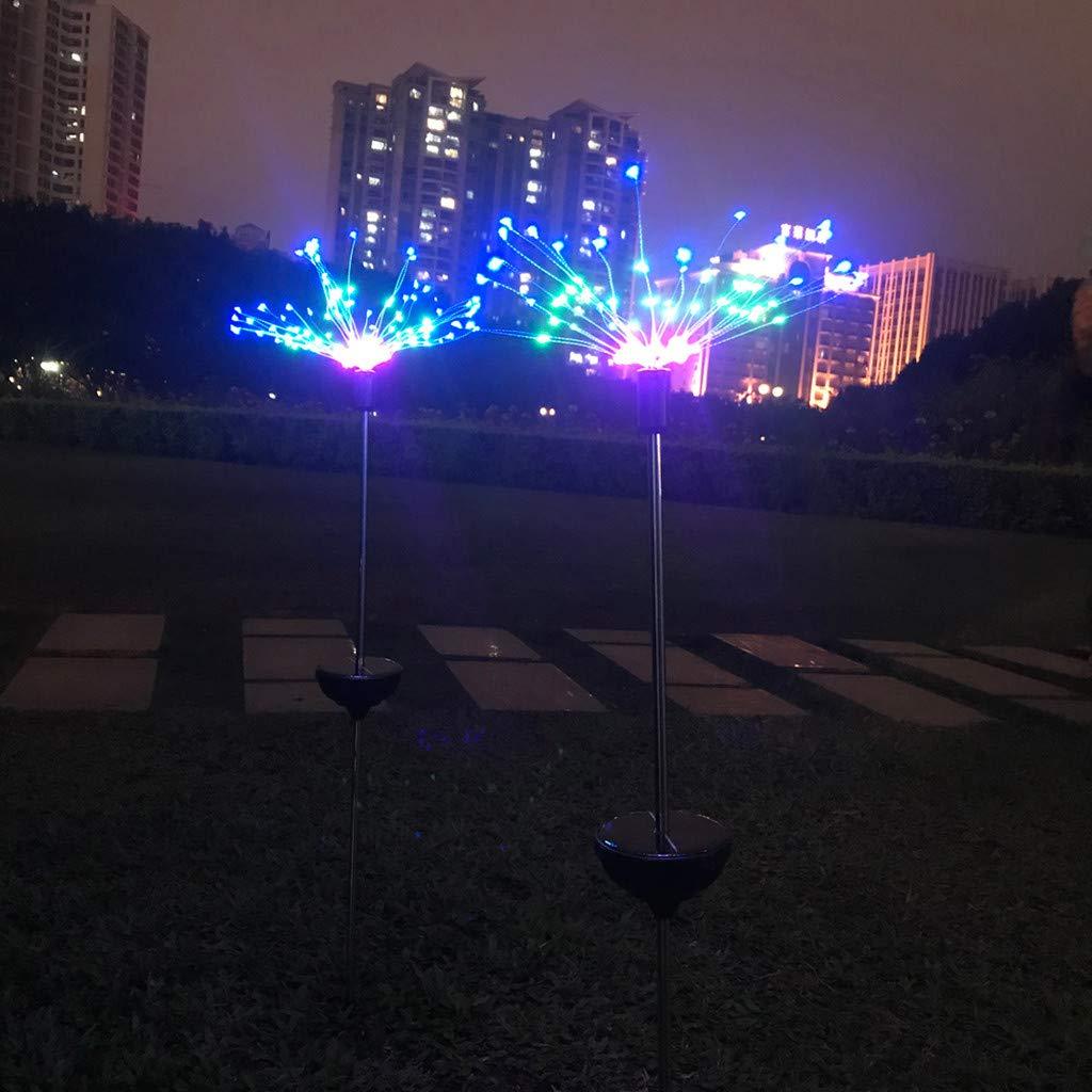 OrchidAmor 90LED Solar Power Garden Light Christmas Lights Outdoor Fireworks LED Lawn Lamp