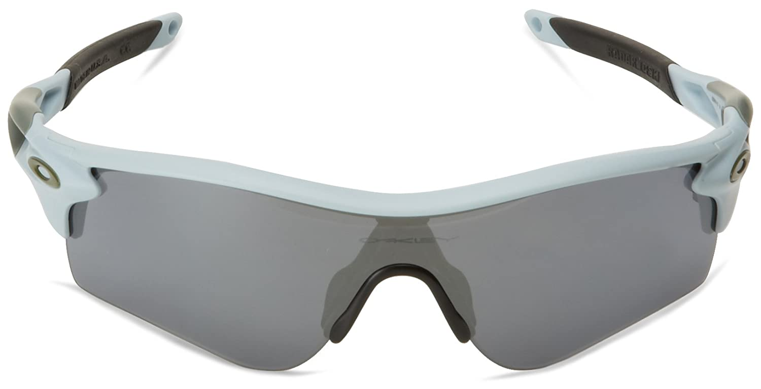 Oakley Herren 0Oo Radarlock Path 918110 38 Sonnenbrille, Blau (Matte Blue Ice Gp/Blackiridium/Clear)