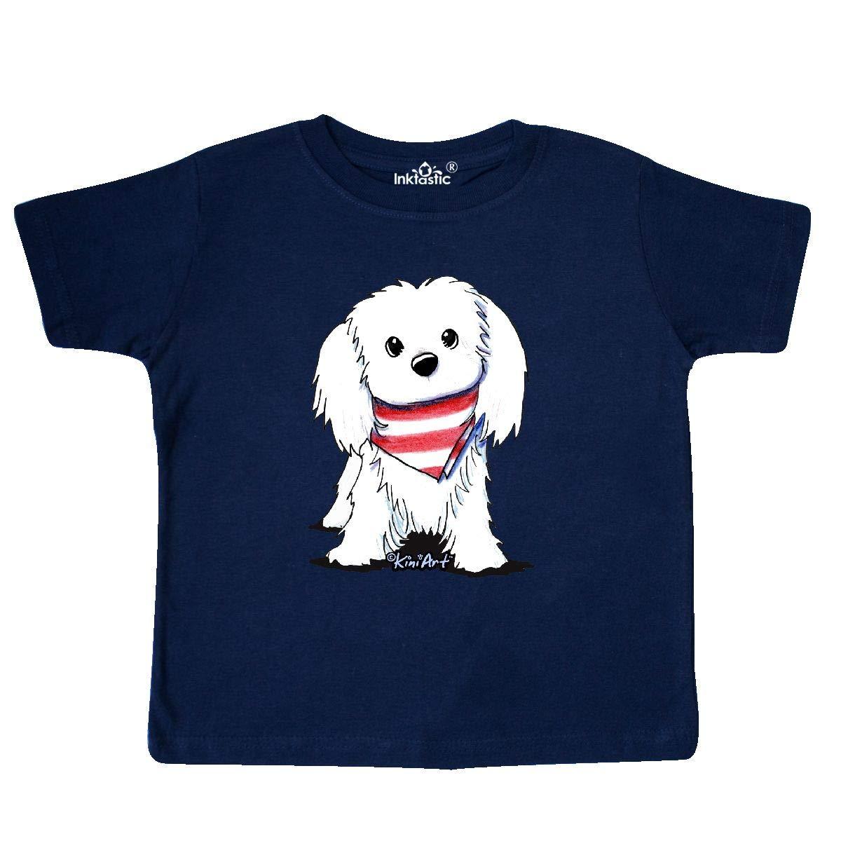 KiniArt inktastic Maltese First Mate Toddler T-Shirt