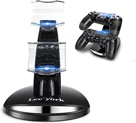 Lee York Playstation 4 Charger PS4 PS4pro PS4slim Playstation Controller Charger Dual USB Charging Station Stand Docking Playstation: Amazon.es: Electrónica