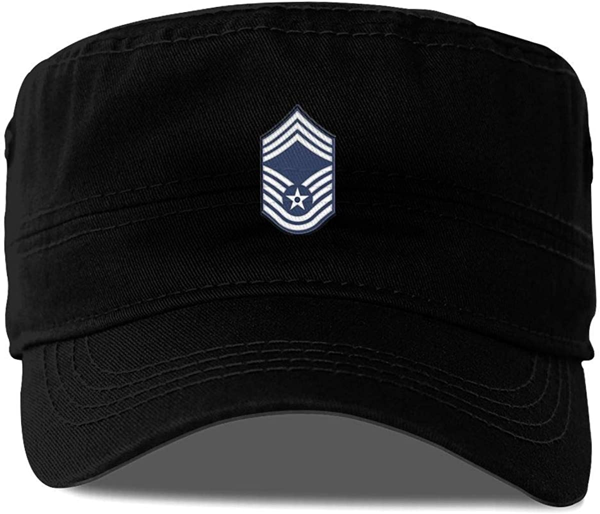 Vinyl Magnet Military Veteran Served Cap Baseball Hat Adjustable Black Magnet US Air Force Chief Master Sergeant No Diamond