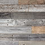 Tools & Hardware : Epic Artifactory DIY Reclaimed Barn Wood Wall - Easy Peel and Stick Application, 20 sq. ft.