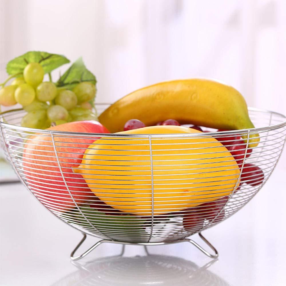 Cesto porta frutta Cesto porta frutta Decorazioni in stile nordico Ferro portaoggetti in metallo pane tavolo bancone verdura cucina e stand Cestino portaoggetti in metallo Rack per snack frutta