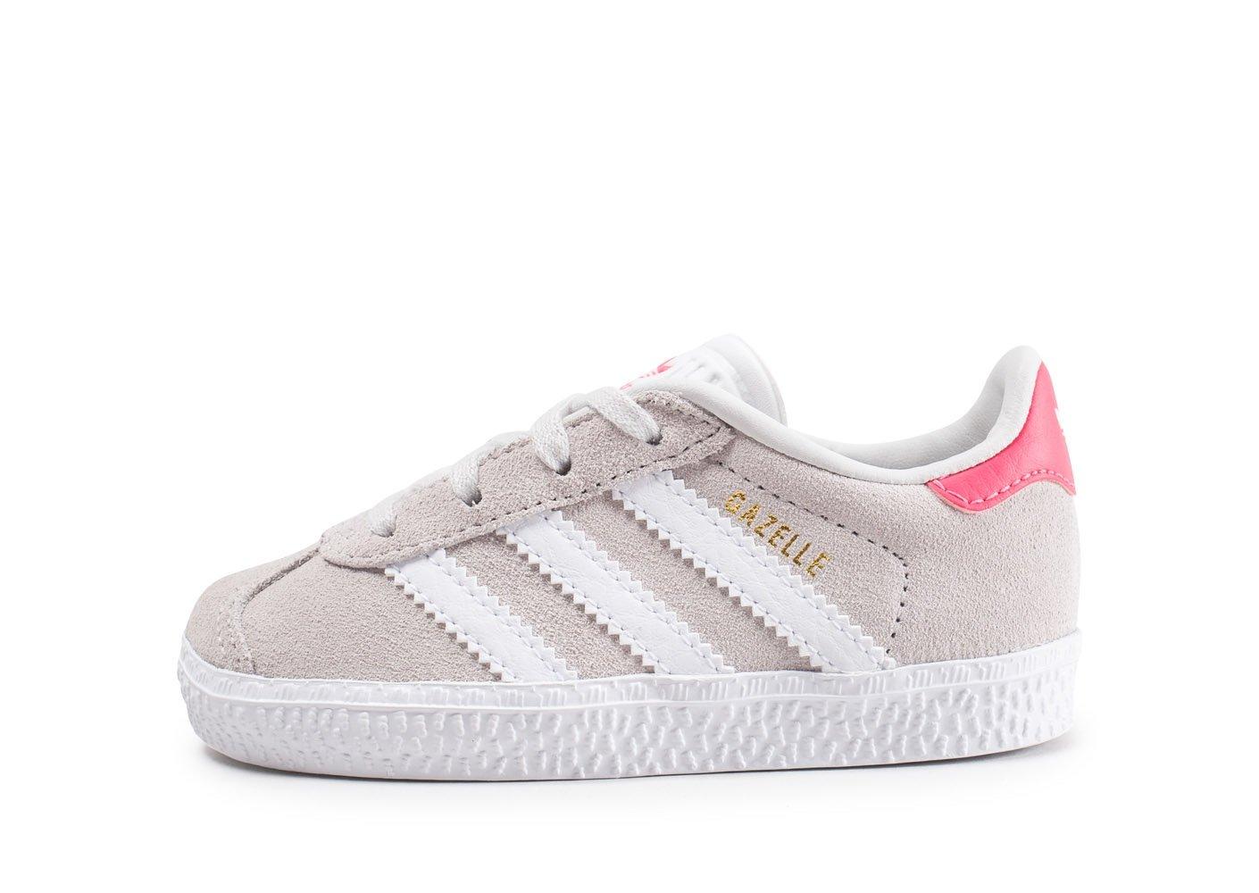 adidas Gazelle I, Chaussures de Fitness Mixte Enfant, Gris (Griuno/Ftwbla / Rosrea 000), 26 EU CQ2927