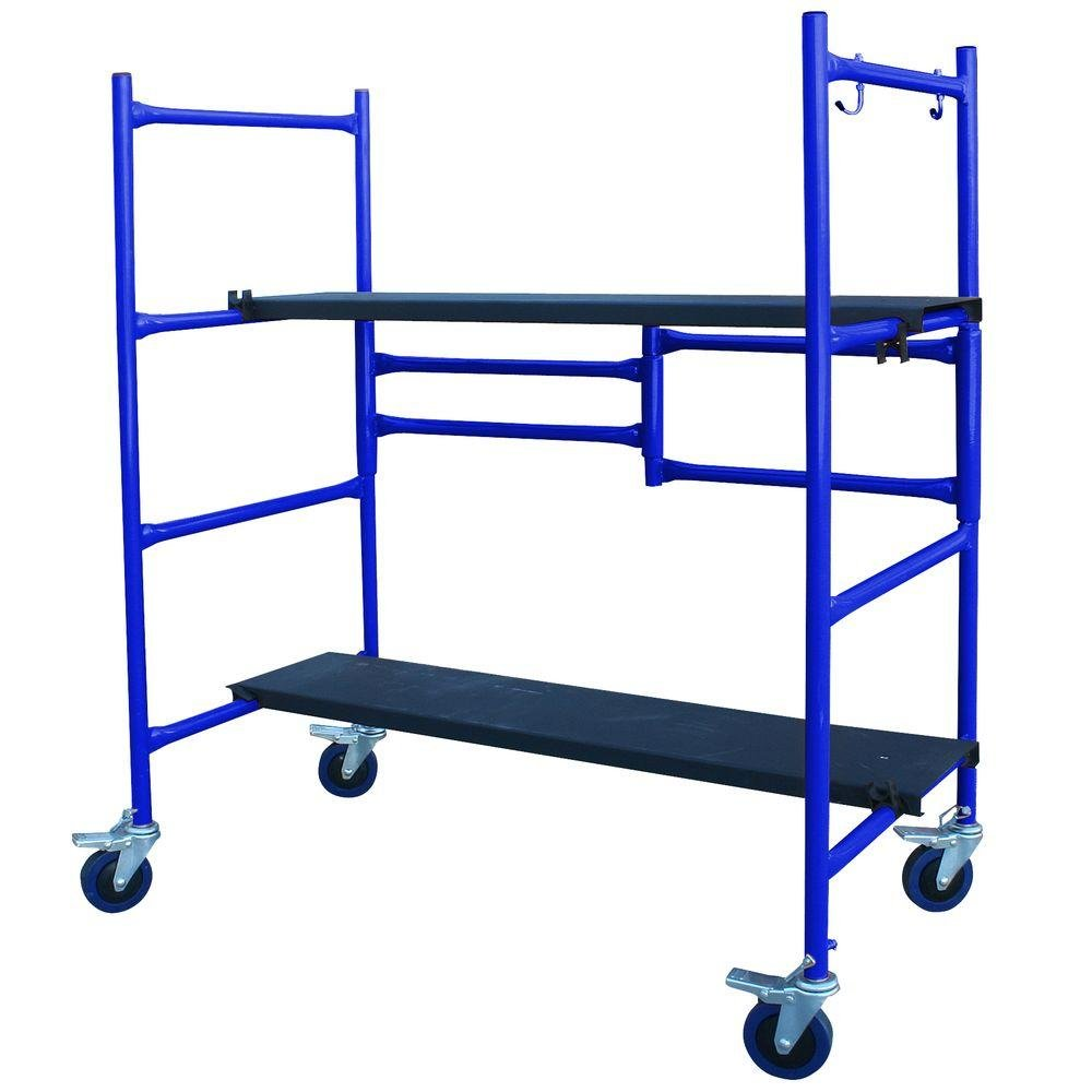 4 ft. Mini Foldable Scaffold Mobile Workbench Storage Cart by Pro-series (Image #3)