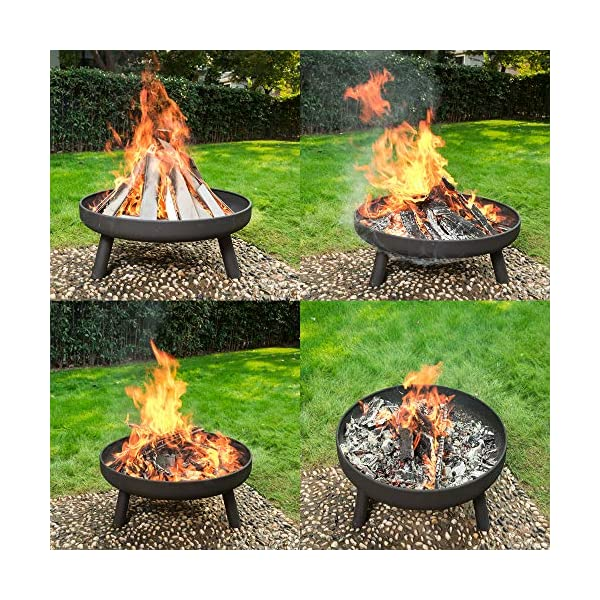 80cm Diameter RayGar Large Round Fire Pit Bowl Burner Heater Stove Brazier