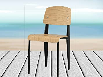 diwhy jean prouve style standard chair dining chair backrest chair