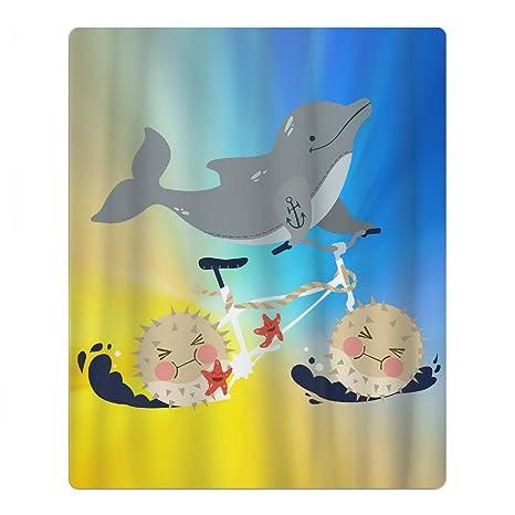 Delfín Navegación bicicleta secado rápido toalla de playa piscina viaje toalla de baño para niños