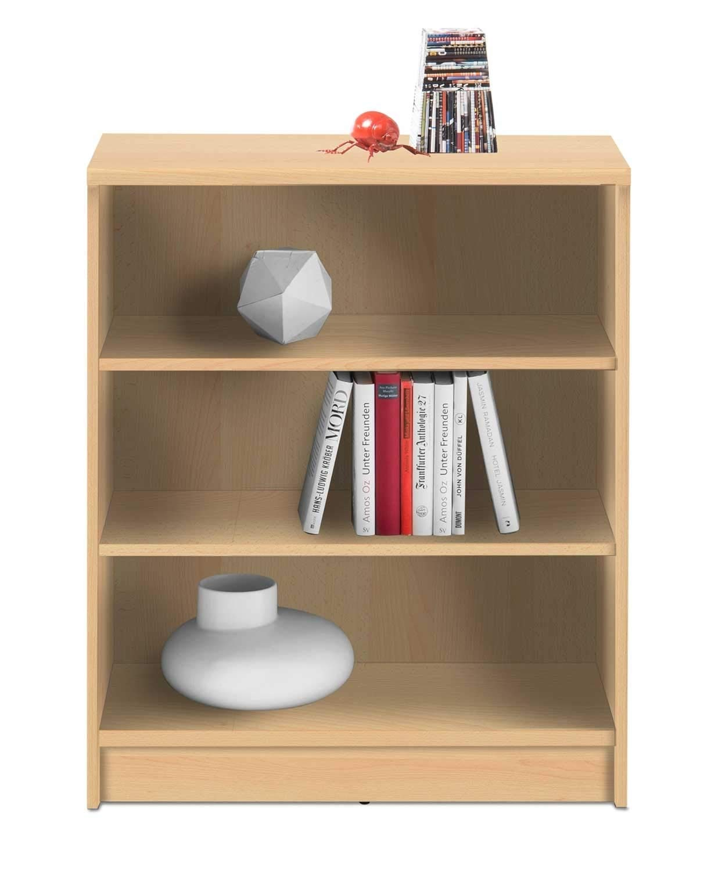 Wohnzimmerregal Standregal Bücherregal Burton 1 | 3 Fächer | Dekor | Buche | BxHxT: 72x86x34 cm