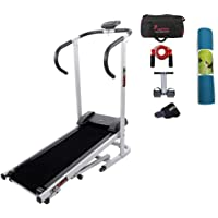 Lifeline Manual Treadmill Machine   Bonus Yoga Mat 6 mm (Color May Vary) Tummy Trimmer, Skipping Rope, Gym Bag and Sweat Belt for Stomach Exercise