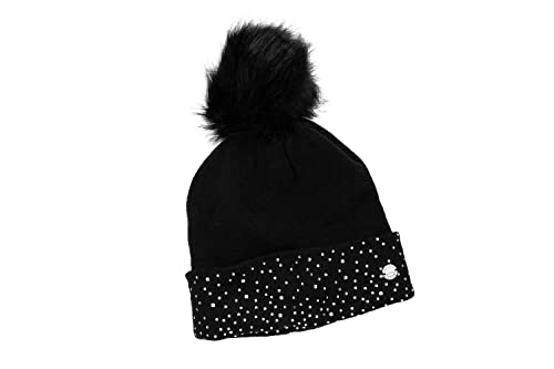 Sombrero mujer GIANMARCO VENTURI negro gorra con pompon 100% acrílico