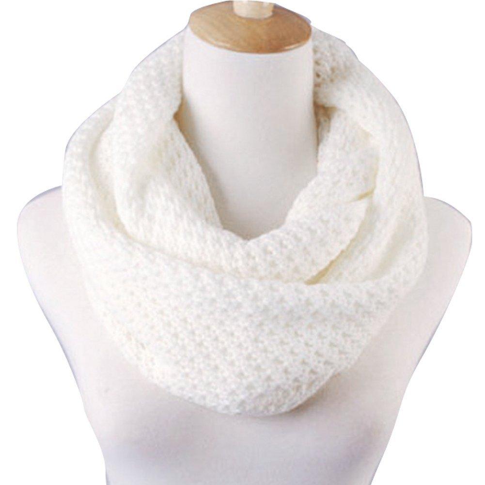 Butterme Sciarpe di modo delle donne caldi di inverno a maglia Crochet del collo Snood sciarpa Warme...