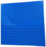 Pegboard Rack Wall Control Steel Pegboard Pack Blue Peg Boards - Two 32-Inch x 16-Inch Blue Metal Pegboard Panels