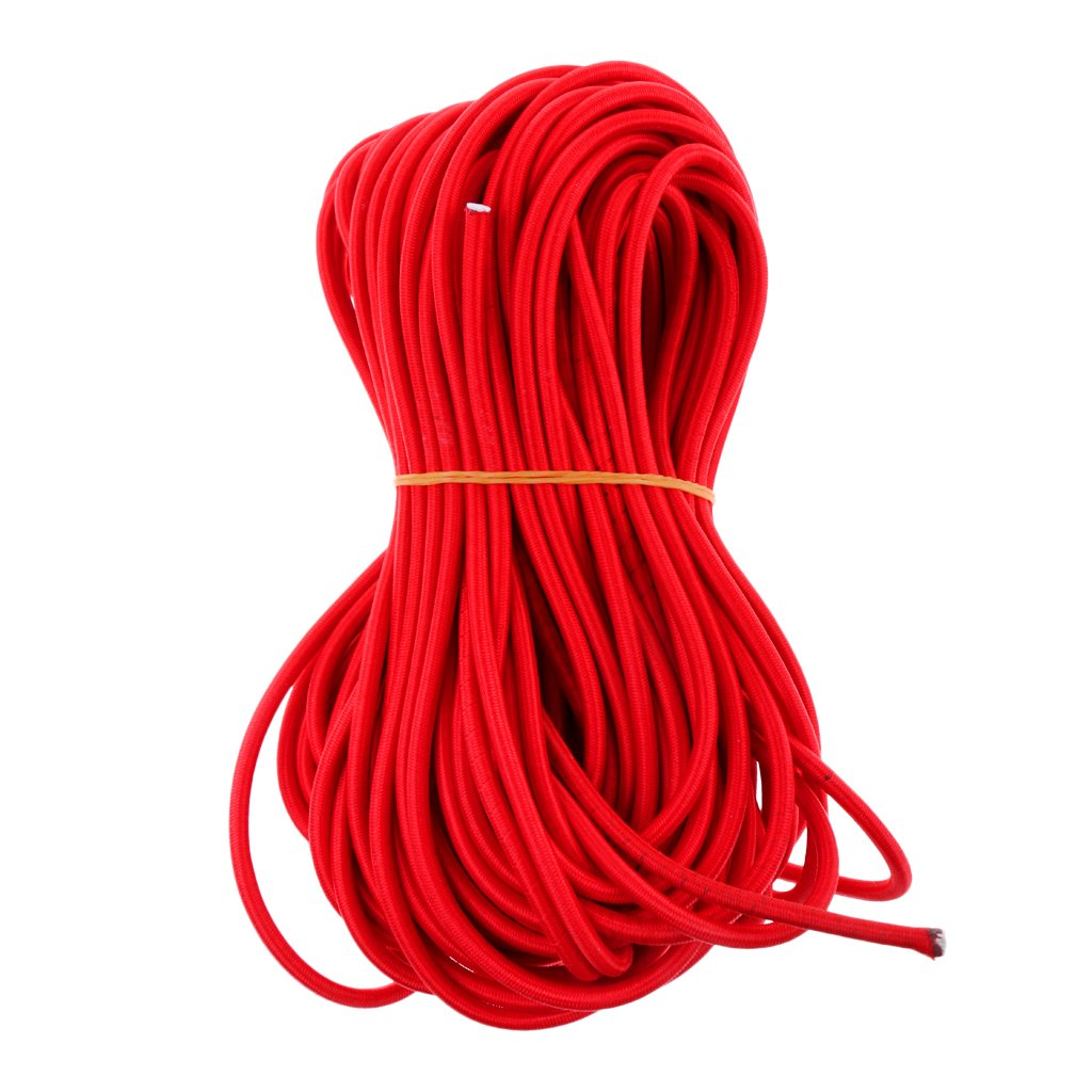 CUTICATE 4mm Red Bungee Shock Cord Boat Tie Down 0.5 1 2 3 20 30 50 75m - 20m by CUTICATE