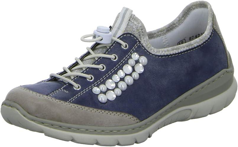 L32T3 Ville Chaussures pour Rieker de Lacets 42 Femme à Y6gvbf7y