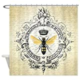 CafePress Vintage French Queen Bee Decorative Fabric Shower Curtain (69''x70'')