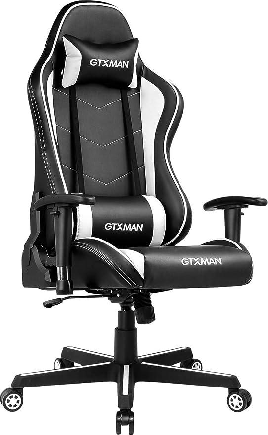 Amazon.com: GTXMEN Silla de escritorio de estilo de carreras ...