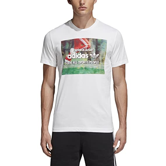 f4995bfcc8d adidas Originals T-Shirt Traction in Action Photo CE2249 White  Amazon.co.uk   Clothing
