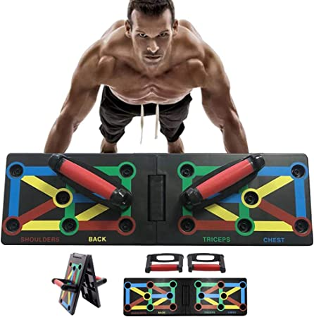 Rotating Pushup Handles Foldable Great for Perfect Push up for Men Woman