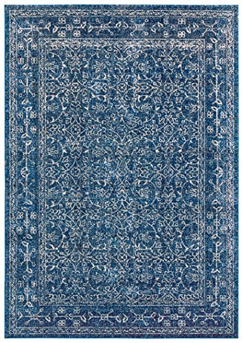 Stone & Beam Modern Rich Detailed Rug, 5' x 7', Dark Blue by Stone & Beam