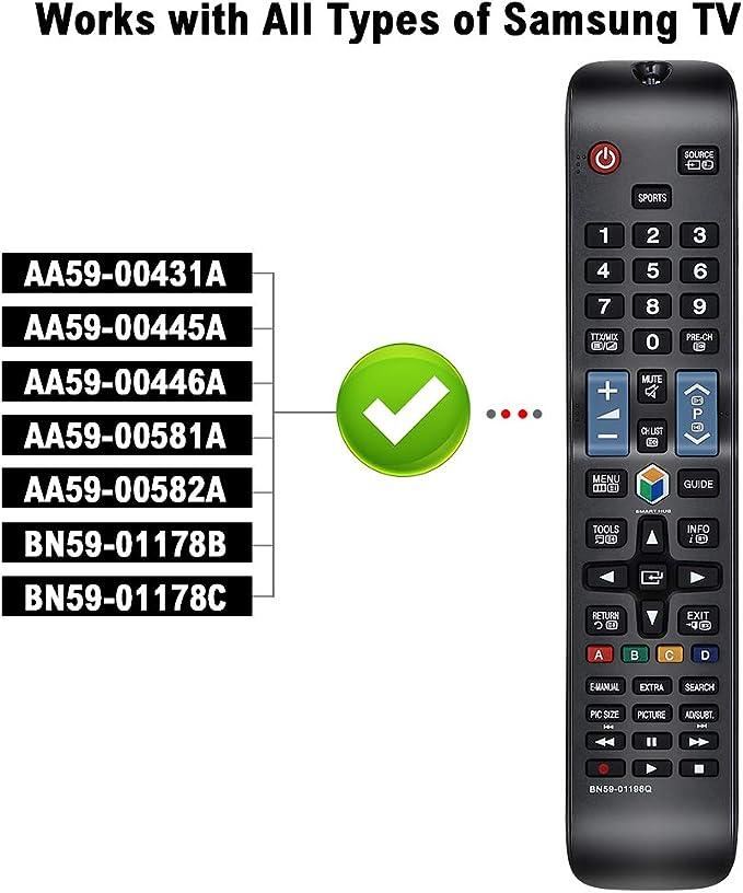 Alkia BN59-01198Q - Mando a Distancia de Repuesto para Samsung 3D ...