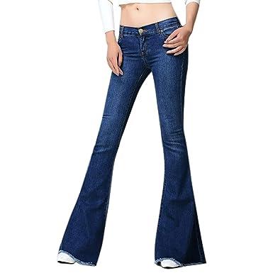 Pantalones Vaqueros De Las Mujeres Estilo Bootcut Vintage ...