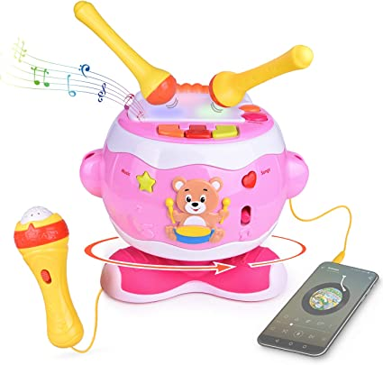 Play Baby Toys Discover /& Play Magical Music Drum Instruments Sing Along Mic