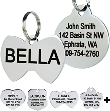 I RESCUED MY HUMAN Custom Personalized Pet ID Tag for Dog and Cat Collars