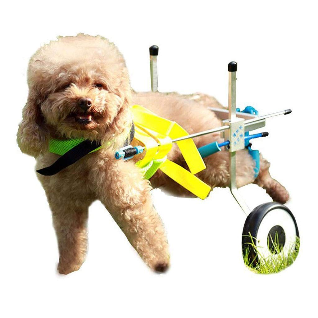 YING Dog Wheelchair Scooter Disabled Assisted Hind Limb Exercise Bike Teddy Dog Cat Pet Car Rehabilitation Wheelchair Car XS M L XL (Size : L) by Ying