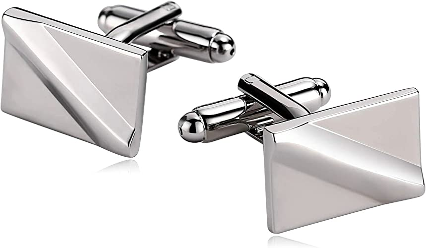 Stainless Steel Diagonal Style Cufflinks