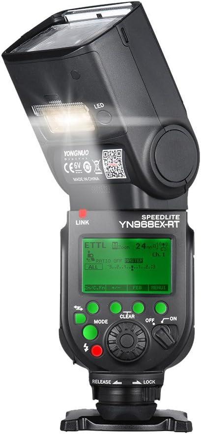 YONGNUO YN968EX-RT Wireless TTL Master Flash Speedlite with Built-in LED Light 1//8000s HSS for Canon 500D 550D 40D 1000D 1100D 1200D
