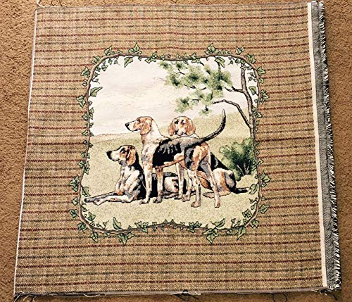 o Beagle Club Tapestry Wall Hanging or Pillow Crafters Fabric Remnant Piece ()