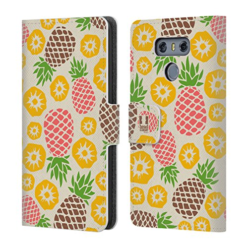 Medley Pattern - Head Case Designs Pineapple Medley Pineapple Patterns Leather Book Wallet Case Cover For LG G6 / G6 Dual