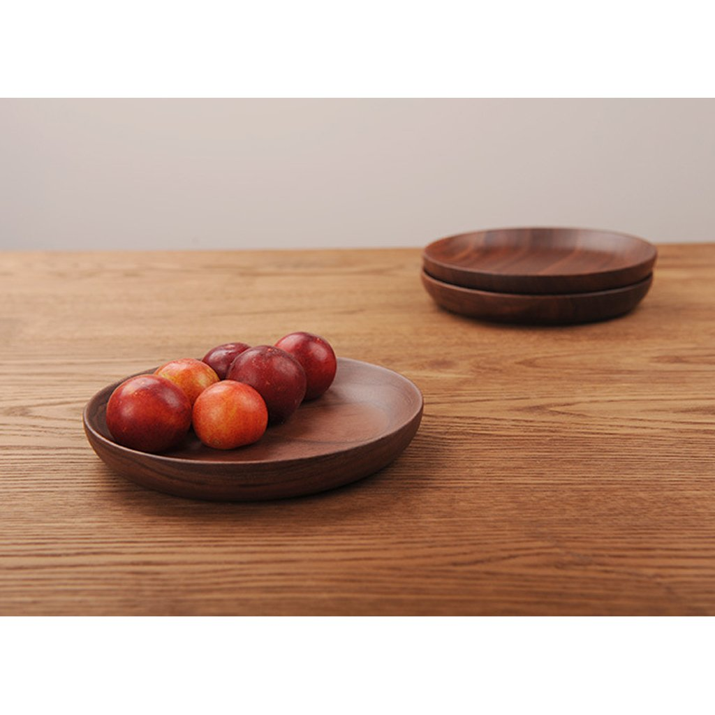 Braun Runde hölzerne Serviertablett Frühstück, Holztablett für Kaffee