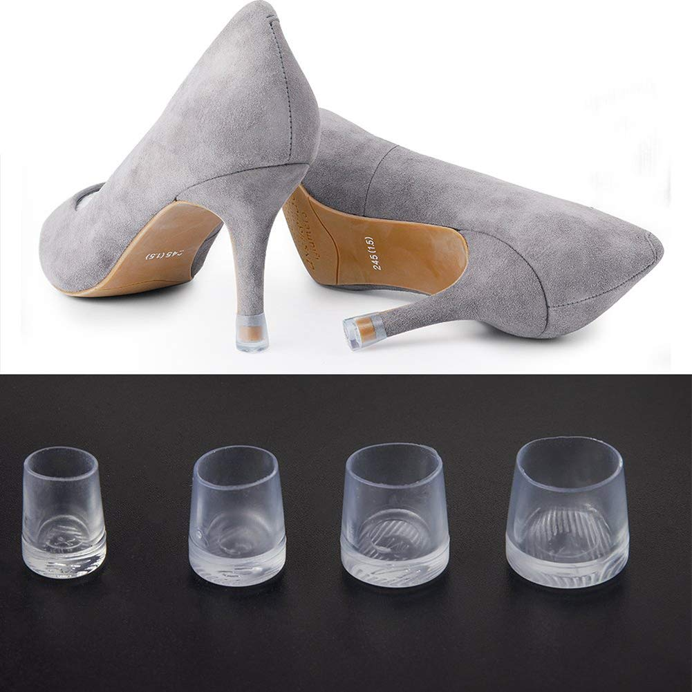 xxiaoTHAWxe High Heel Protectors, Non-Slip High Heel Protectors Savers Stopper Shoes Caps Dancing Stiletto Covers Transparent Color S by THAWxe (Image #6)