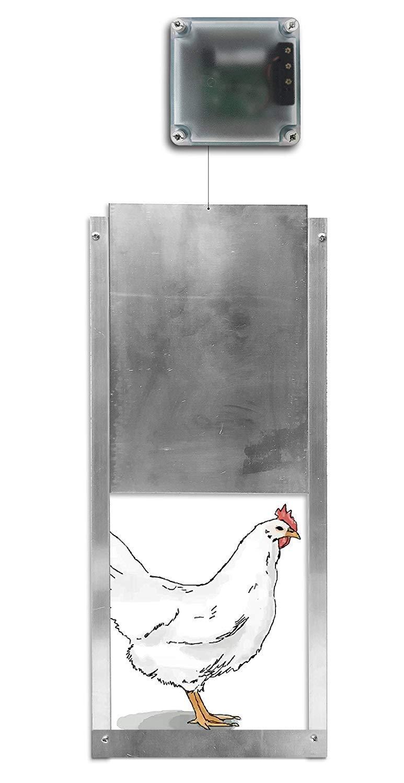 RentACoop Automatic Chicken Coop Door with Light Sensor and Timer Options – Multi Functional Unit
