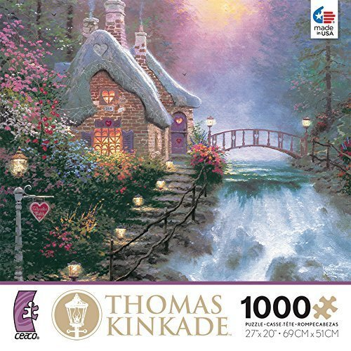 Surprising Thomas Kinkade Cottage Puzzles Jigsaw Puzzles For Adults Home Interior And Landscaping Ologienasavecom