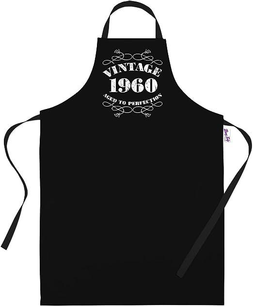60th Birthday Gifts for Men Him Dad Husband BBQ Cooking Apron Vintage 1959 Bang Tidy Clothing RA472