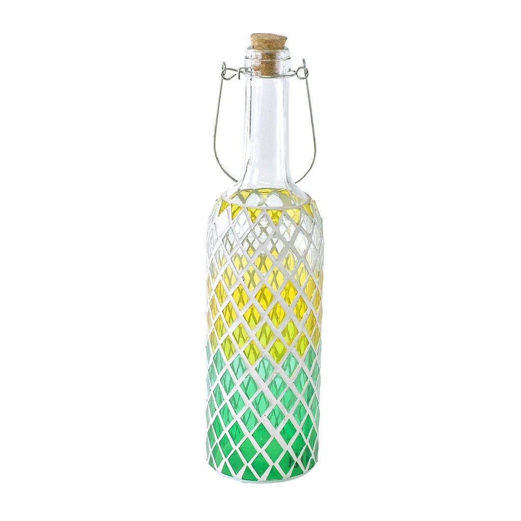 時間概念モザイクボトルランプ – 乾電池式、LEDライト Diamond HEDN1710GR B07CLMZLW1 16963 Green Diamond Green Diamond