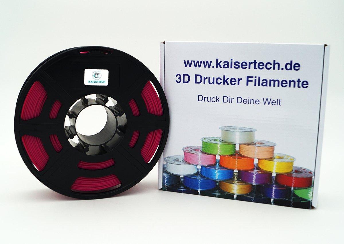 Kaisertech Filament fü r 3D Drucker 1kg PLA/ABS 1.75mm/3mm - Premium Qualitä t & verschiedene Farben fü r MakerBot RepRap MakerGear Ultimaker uvm. (ABS 1.75mm, Orange) Holi Europe