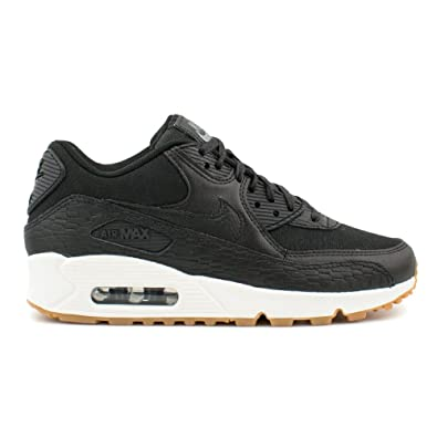 first rate 56afb 0ff94 Nike Womens Air Max 90 Premium Leather Black Size 3 UK Amazon.co.uk Shoes   Bags