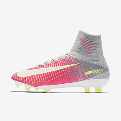 NIKE Womens Mercurial Superfly V FG Cleats [Hyper Pink] (6.5)
