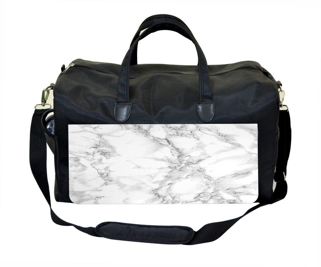 Marble Print Weekender Bag