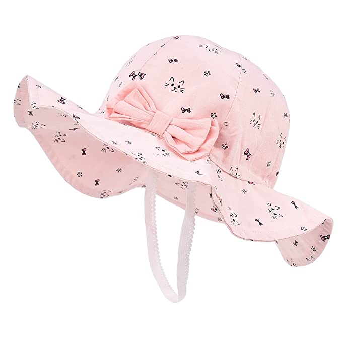 b07604ebc00 Image Unavailable. Image not available for. Color  Toddler Baby Girls Sun  Hats for Summer Sun Protection Beach Hat for kids ...
