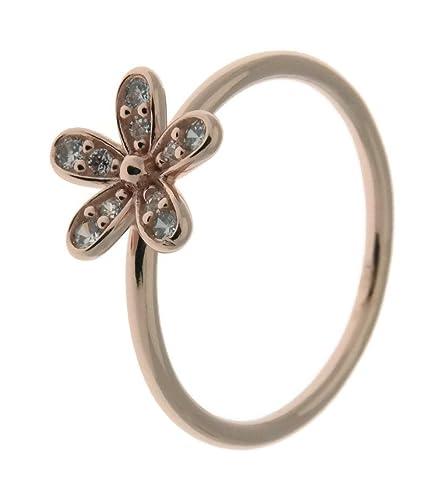 pandora anello fiore brillante