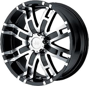"Helo HE835 Gloss Black Machined Wheel - (17x8""/6x5.5"")"