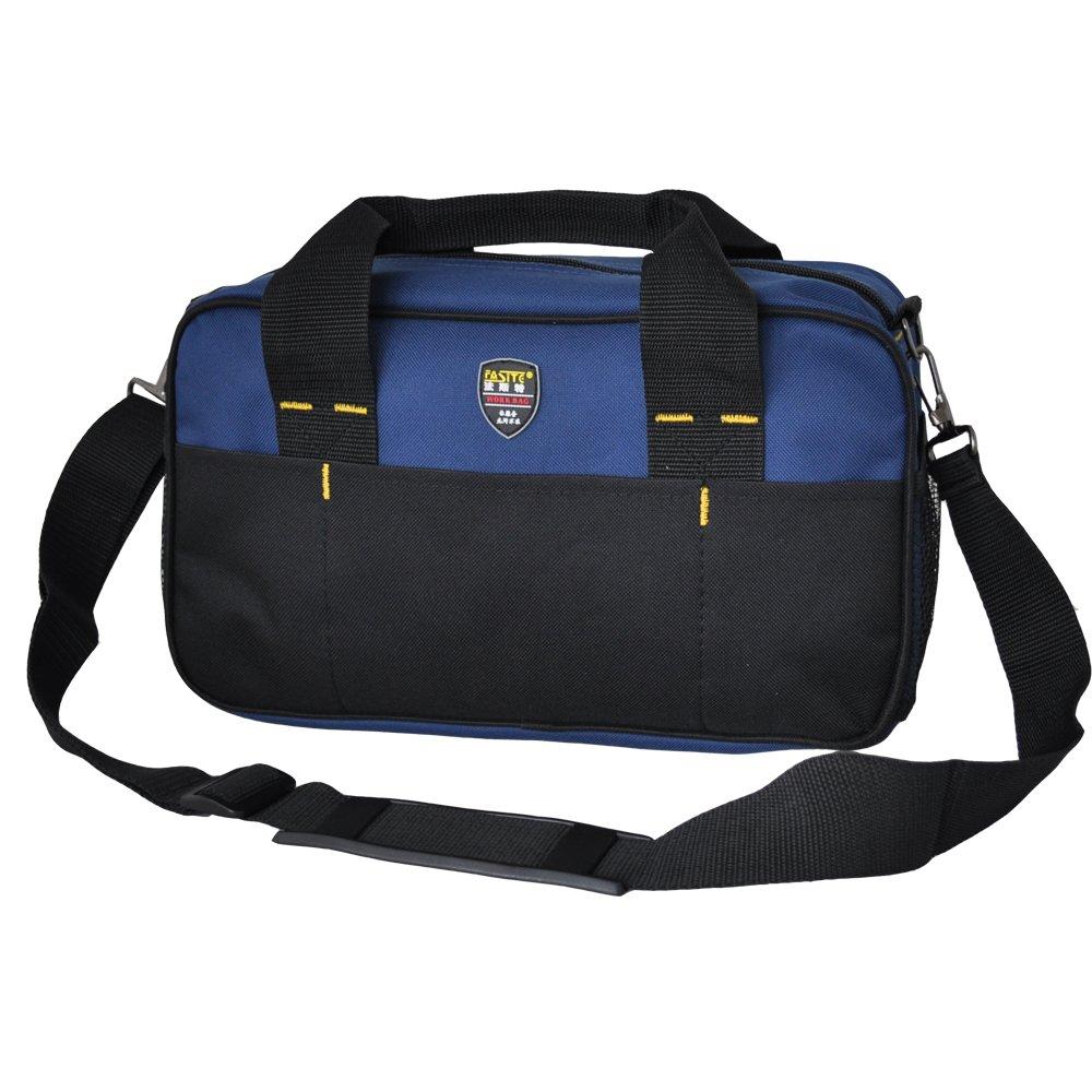 FASITE PT-N020-2 Shoulder Electrican Tool Bag Work Bag, Black&Blue